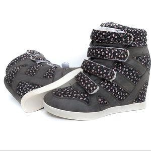 BDG UO Hidden Wedge Strapped High Top Sneakers 8